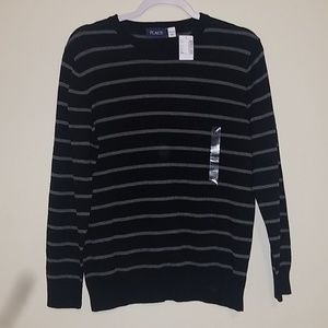 Children's place boy striped cardigan sweater
